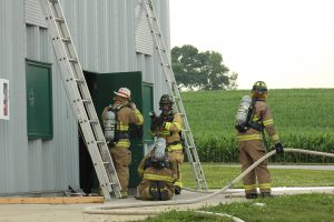 Crews prepare to make entry at a training at Pequea Lane Training Facility.