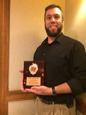 Lavelle Beiler was awarded Firefighter of the Year at the Nov. 14, 2018 Thanksgiving Banquet.